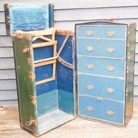 Antique Travel/ Steamer Trunk Wardrobe (3 of 16)