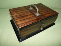 Macassar Ebony Jewellery / Trinket / Cigar Box c.1900 (4 of 11)