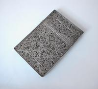 Fine Continental silver filigree card case c 1890 (10 of 12)