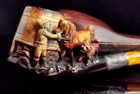 Antique Victorian Meerschaum Pipe, Horse, Man and His Dog (8 of 15)