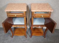 Pair of French Antique Walnut Bedside Cupboards / Night Stands c.1910 (4 of 9)