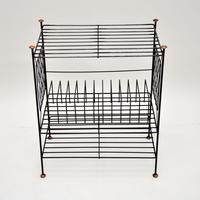 1960's Vintage Steel & Copper Record Rack / Table (2 of 8)