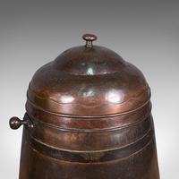 Antique Beehive Fireside Store, Copper, Fire Bucket, Coal Bin, Victorian c.1850 (10 of 12)