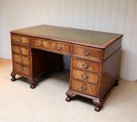 Large Mahogany Pedestal Desk (7 of 12)