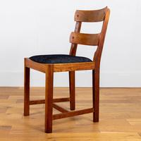 Set of 6 1930s Golden Oak Dining Chairs in the Manner of Heal's (4 of 16)