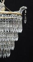 Italian Art Deco Four Tier Crystal Glass Chandelier (4 of 7)