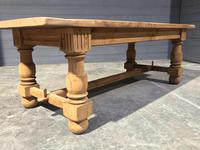 Large Refectory Bleached Oak Farmhouse Table (10 of 17)