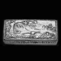 Georgian Solid Silver Snuff Box with Pheasant Scene - Thomas Shaw 1834 (27 of 28)
