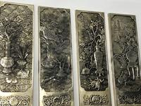 Antique Chinese Solid Silver Zu Yin Hallmarked Scroll Weight Plaques Guangxu (7 of 24)