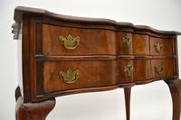 Antique Burr Walnut Low Boy Side Table (3 of 11)