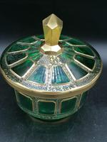 Antique Bohemian Cabochons Glass Covered Bowl, Box, Biscuits Jar (4 of 10)