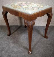 Carved Mahogany Cabriole Leg Stool In The Queen Anne Style (3 of 9)