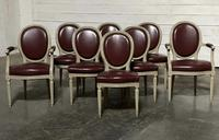 Set of 8 French Dining Chairs Lovely Original Finish (4 of 18)