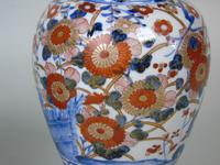 Good Pair of 19th Century Imari Porcelain Lidded Vases on Stands (5 of 10)