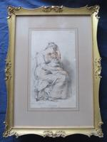 "Richard Cosway 1802 Aqua Tint Stipple Engraving ""Affection"""