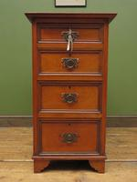 Antique Narrow Office Chest of Drawers (2 of 17)