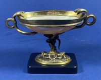 Russian 19th Century Gilt Bronze Tazza Shell on a Marble Base (2 of 14)