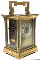 Superb Large Antique French 8-day Striking Carriage Repeat Feature Clock c.1880 (3 of 13)