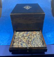 Victorian Ebonised Jewellery Box with Mother of Pearl & Abalone Inlay (14 of 18)