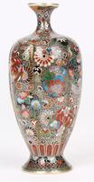 Oriental, Chinese / Japanese Exceptional Silver Metal Cloisonne Vase (4 of 25)