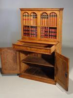 Beautifully Made Late 19th Century Oak & Burr Oak Small Bookcase Cabinet (2 of 3)