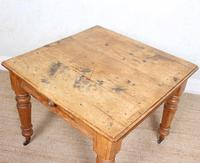 19th Century Pine Dining Table Fitted Drawer (10 of 11)