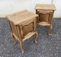 Nice Pair French Bleached Oak Bedside Cupboards (2 of 10)