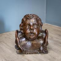 Large Walnut Head of Putto (2 of 8)