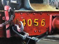 Oil Painting Railway Train Engine Princess Margaret 4056 Signed Ken Allsebrook (6 of 30)