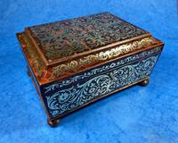 English Boulle & Brass Kingwood Edged Jewellery Box (4 of 16)