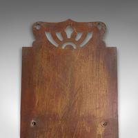 Small Antique Letter Rack, English, Brass, Hanging, Art Nouveau, Victorian, 1900 (9 of 10)