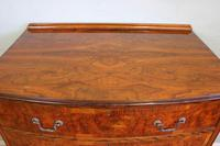 Antique Bow Front Figured Walnut Chest of Drawers (5 of 11)