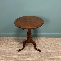 Quality Georgian Cuban Mahogany Antique Tilt Top Tripod Occasional / Lamp Table (5 of 7)