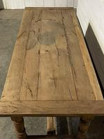 Rustic French Oak 19th Century Farmhouse Kitchen Table (5 of 31)