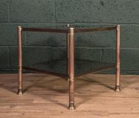 Mid Century Brass Coffee Table