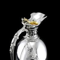 Antique Victorian Solid Silver Wine Ewer / Claret Jug - Barnard 1872 (8 of 19)