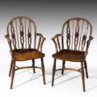 Attractive Matched Set of Six Early 19th Century  Thames Valley Yew Tree Chairs (3 of 5)