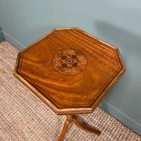 Unusual Victorian Satinwood Jardinière / Side Table (4 of 8)