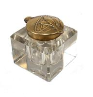 Vintage Art Nouveau Style Inkwell Brass 1930s (10 of 10)