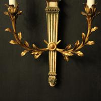 Italian Pair of Giltwood Palladio Wall Lights (5 of 10)