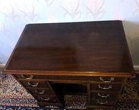 Victorian Mahogany Kneehole Campaign Desk (4 of 7)