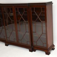 Antique Mahogany Chippendale Style Breakfront Dwarf Bookcase (8 of 11)