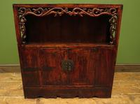 Antique Chinese Qing Shrine Shelf Cabinet with Doors (12 of 18)