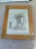 "19th Century Oil Painting ""Canterbury Pilgrims"" BY H.Saunders 1892 (2 of 7)"