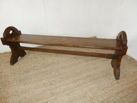 19thc Gothic Revival Oak Hall Bench (7 of 7)