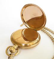 1930s Bravingtons Renown half hunter pocket watch and chain (5 of 5)