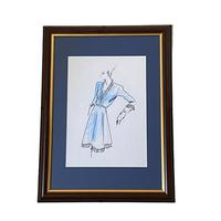 Set of 9 Original Drawings by Ian Thomas - Dressmaker for the Royal Family (5 of 9)
