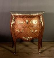 Small French Louis XVI Style Bombe Commode (10 of 12)