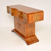 Art Deco Burr Walnut Console Table by Hille (12 of 12)