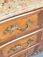 French Louis XV Style Marble Top Commode (10 of 13)